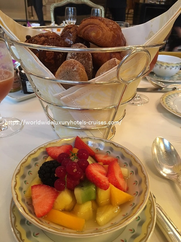 Four Seasons George V Paris Luxury Travel Virtuoso Izumi Ogawa Trip agent vacation advisor Vision Europe celebrity room hotel book blog review property elegance high-end restaurant Michelin star