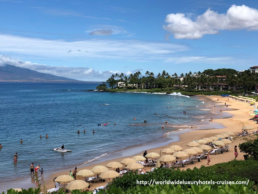 Four Seasons Maui Pools and Beach at Wailea Hotel Luxury Travel Hawaii Virtuoso Izumi Ogawa Trip Vision agent vacation advisor USA trip pool restaurant